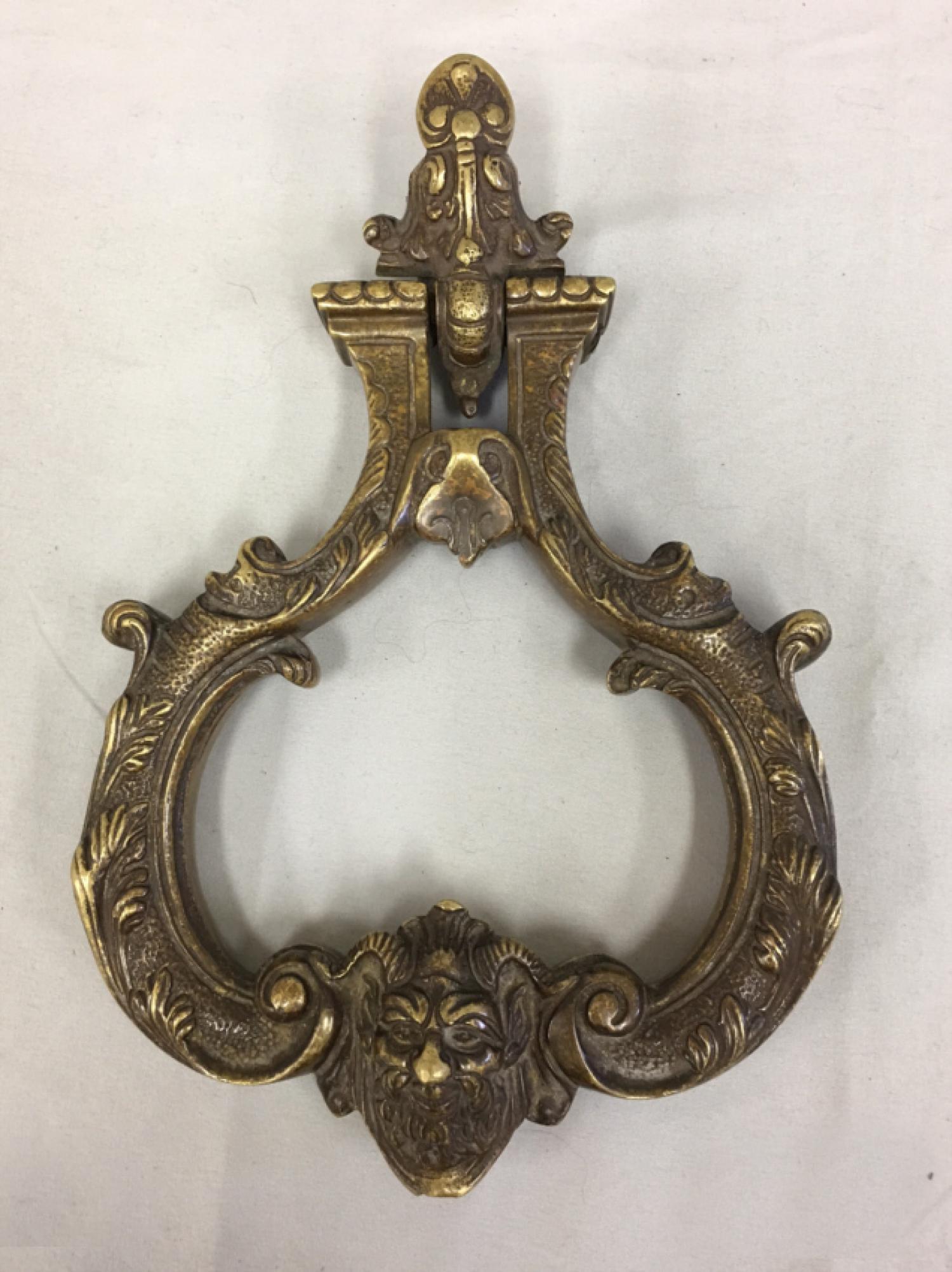Early English Georgian brass door knocker