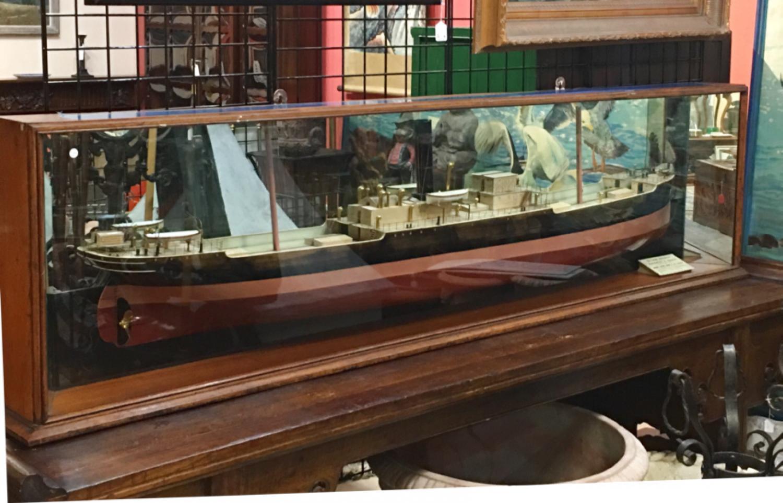 Antique ship model S S Glan Magfadyen c1900