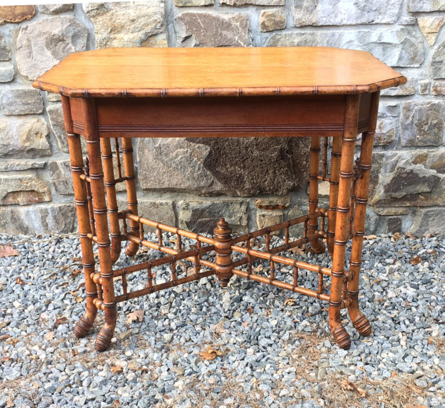 Horner bamboo and maple table c1880