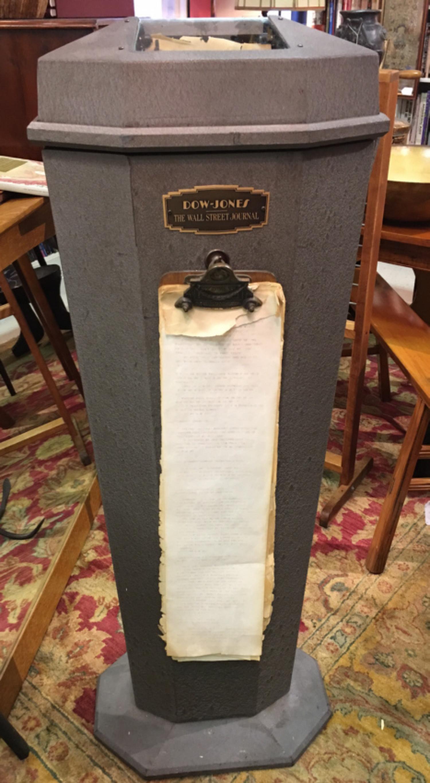 Wall Street Journal Dow Jones ticker tape machine c1940