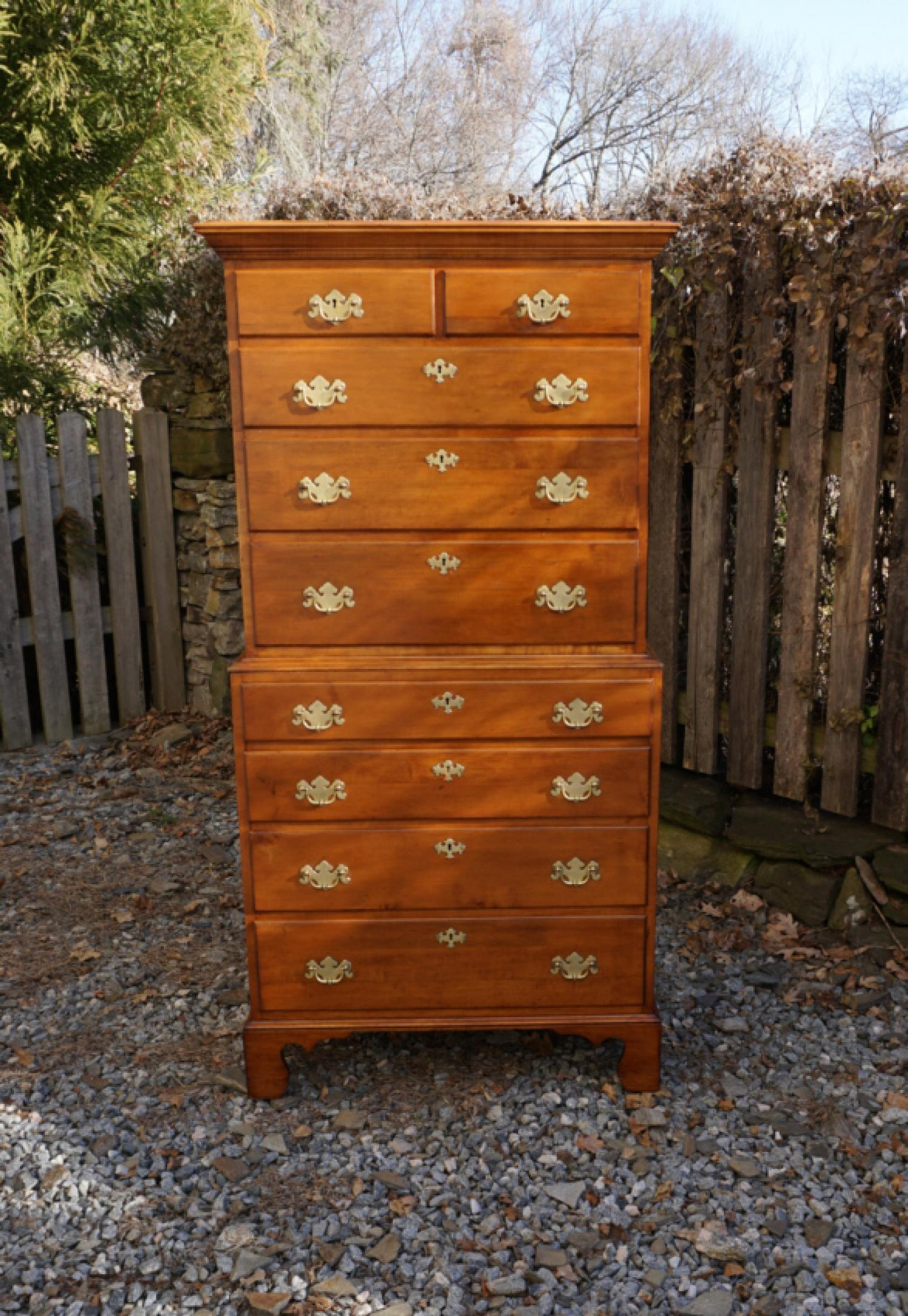 B Altman Co New York maple chest on chest c1940