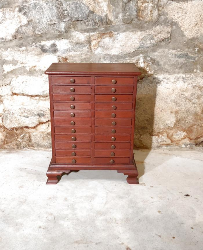 Small antique multi drawer cabinet for collections